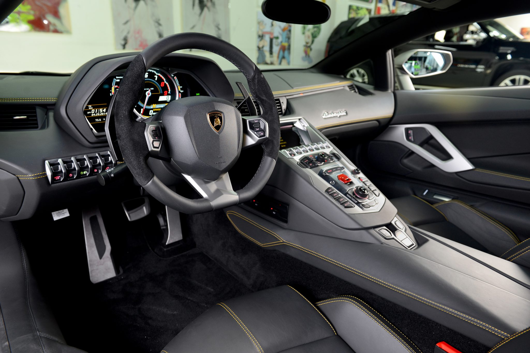 lamborghini aventador interior luxury exotic car rental. Black Bedroom Furniture Sets. Home Design Ideas